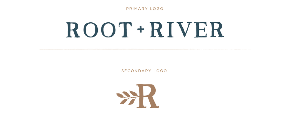 root + river logo design by Pace Creative Design Studio