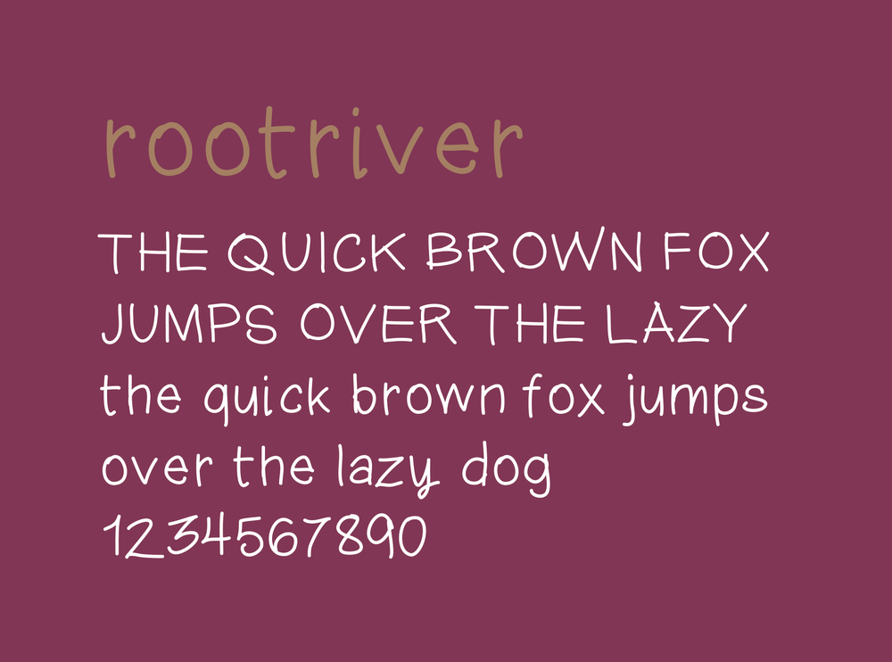 root + river brand accent font
