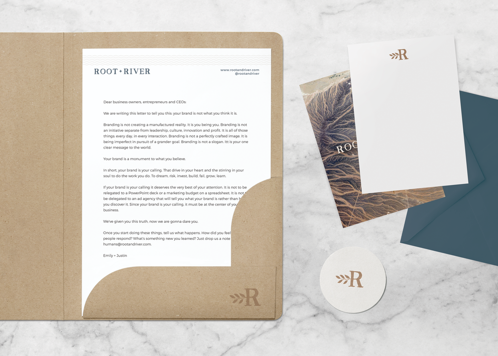 root + river brand collateral design by Pace Creative Design Studio