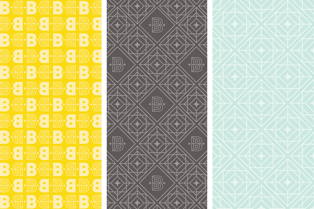 Brightside Creative Solutions brand pattern designs by Pace Creative Design Studio