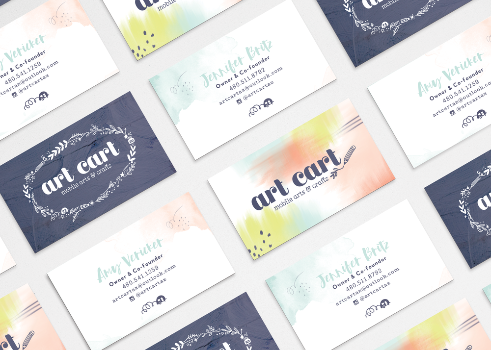 Art Cart business card designs by Pace Creative Design Studio