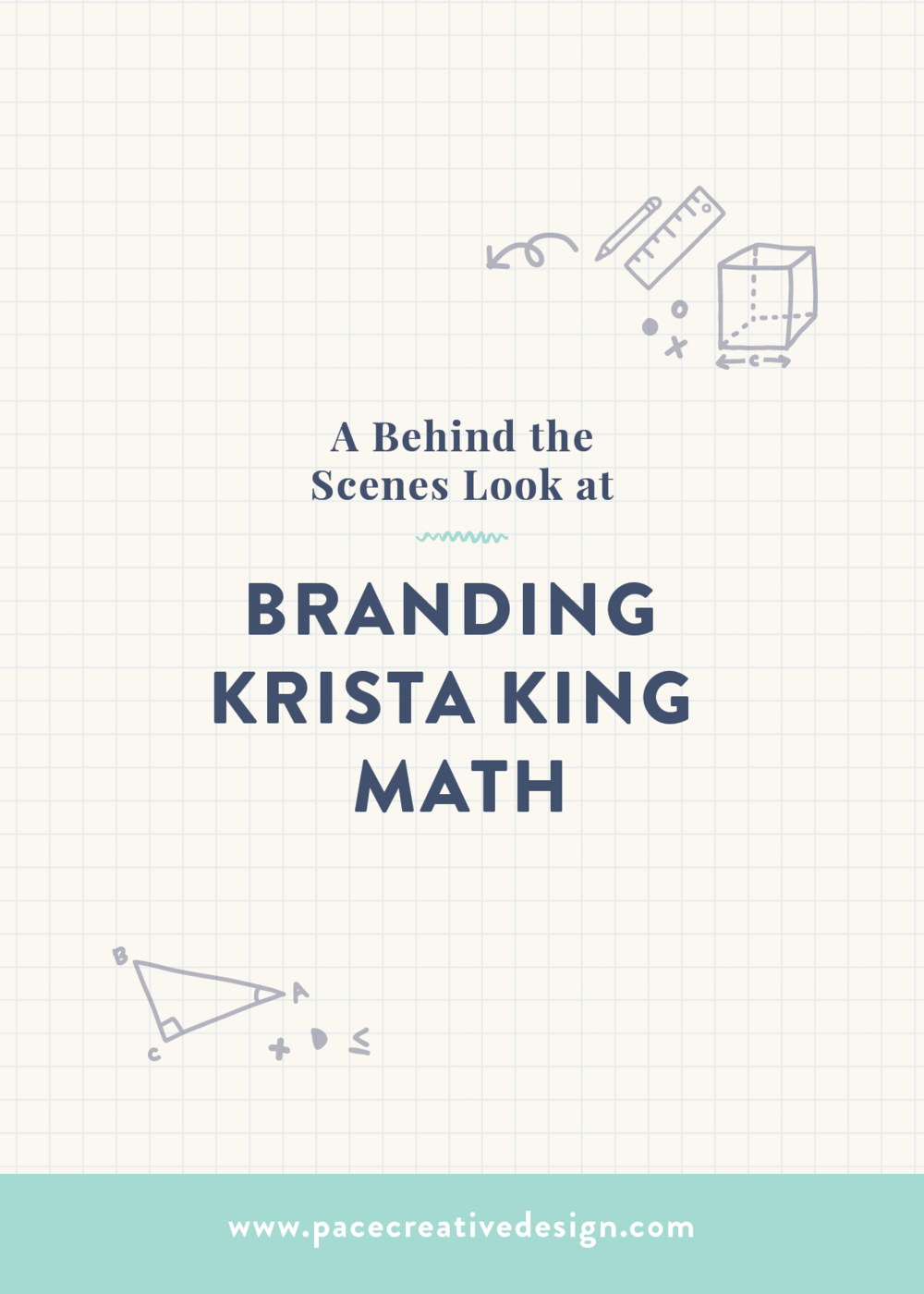 Krista King Math brand design | Created in collaboration between Spruce Rd. and Pace Creative Design Studio