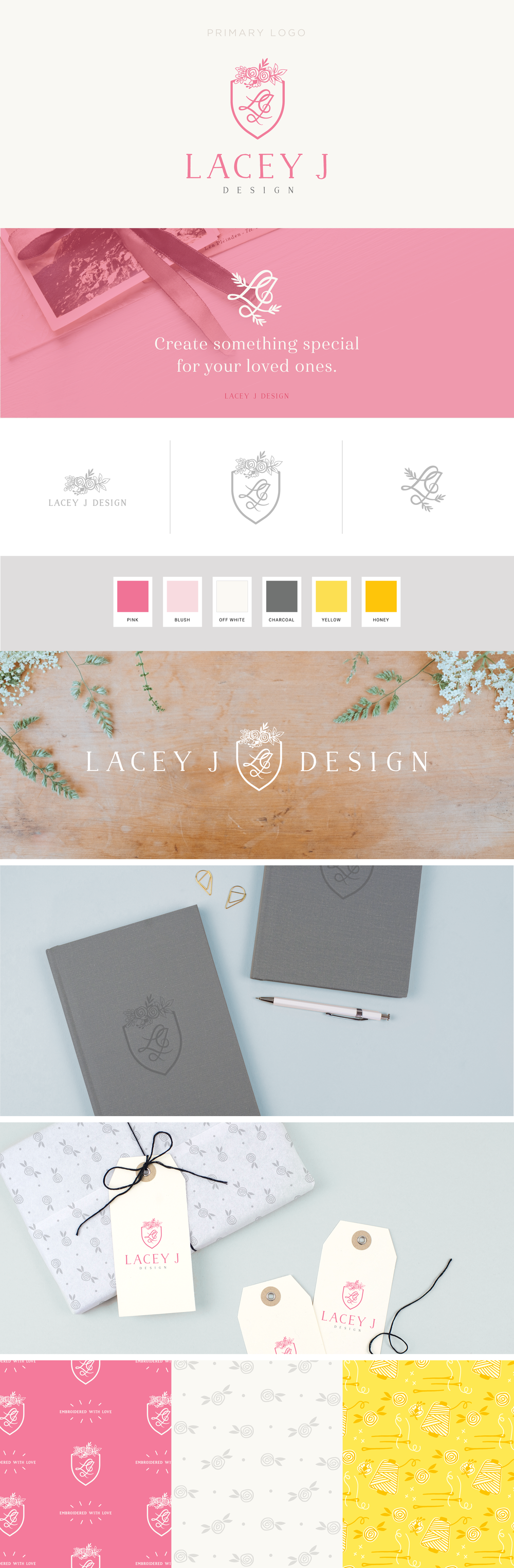 Lacey J Design brand design | Collaboration between Spruce Rd and Pace Creative Design Studio
