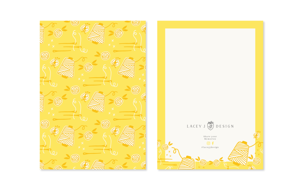 Lacey J Design notecards | Collaboration between Spruce Rd and Pace Creative Design Studio
