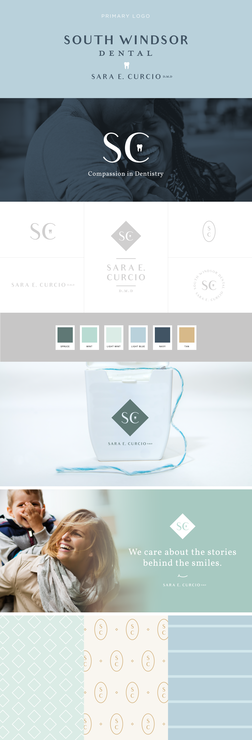 South Windsor Dental brand design | Pace Creative Design Studio