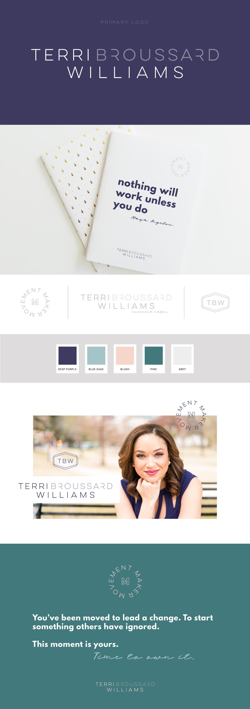 Terri Broussard Williams brand design | Designed by Pace Creative Design Studio