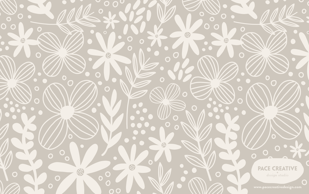 Floral Dreams | Free Desktop Wallpaper design by Pace Creative Design Studio