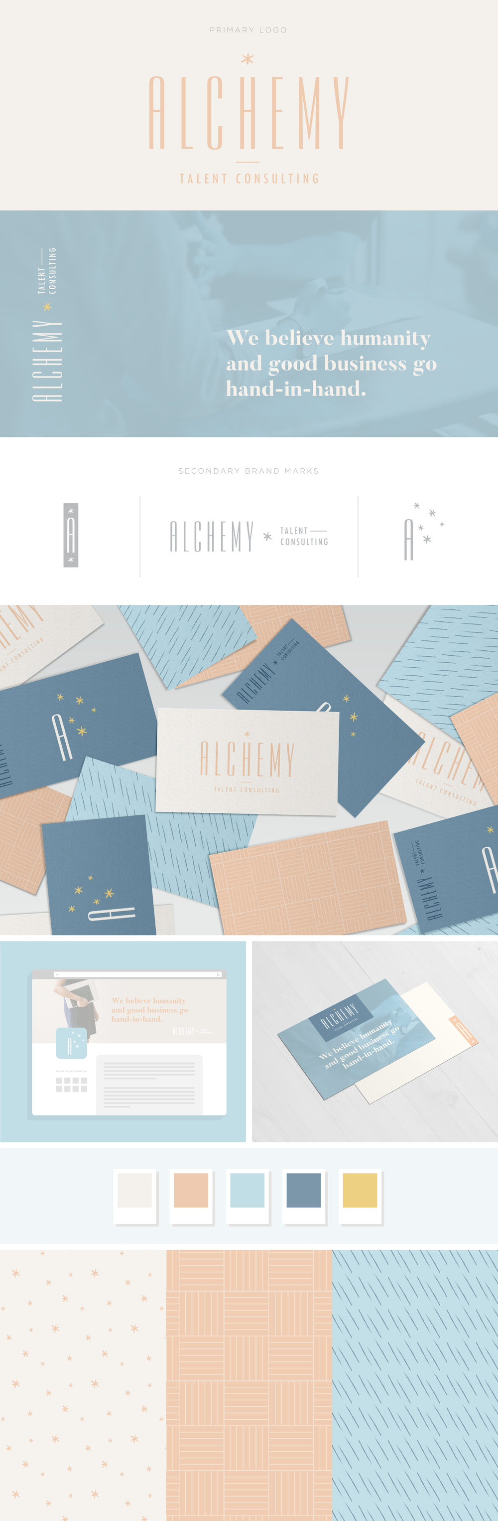 Alchemy Talent Consulting brand design by Pace Creative Design Studio