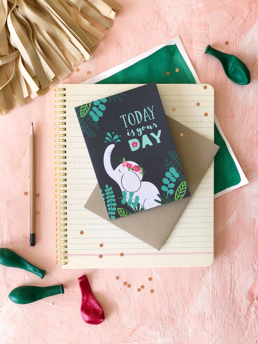 Elephant Birthday Card at Target | Designed by Pace Creative Design Studio