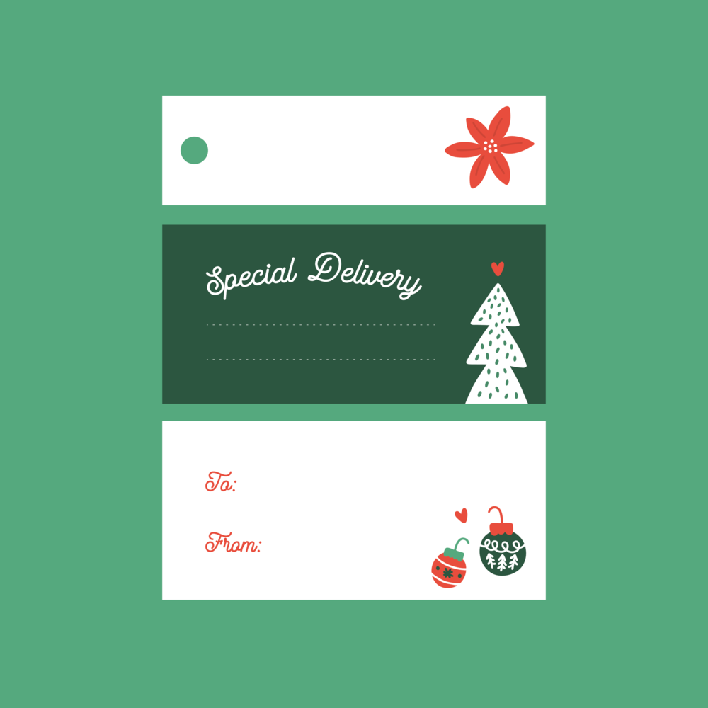 FREE Holiday Printable Gift Tags by Pace Creative Design Studio