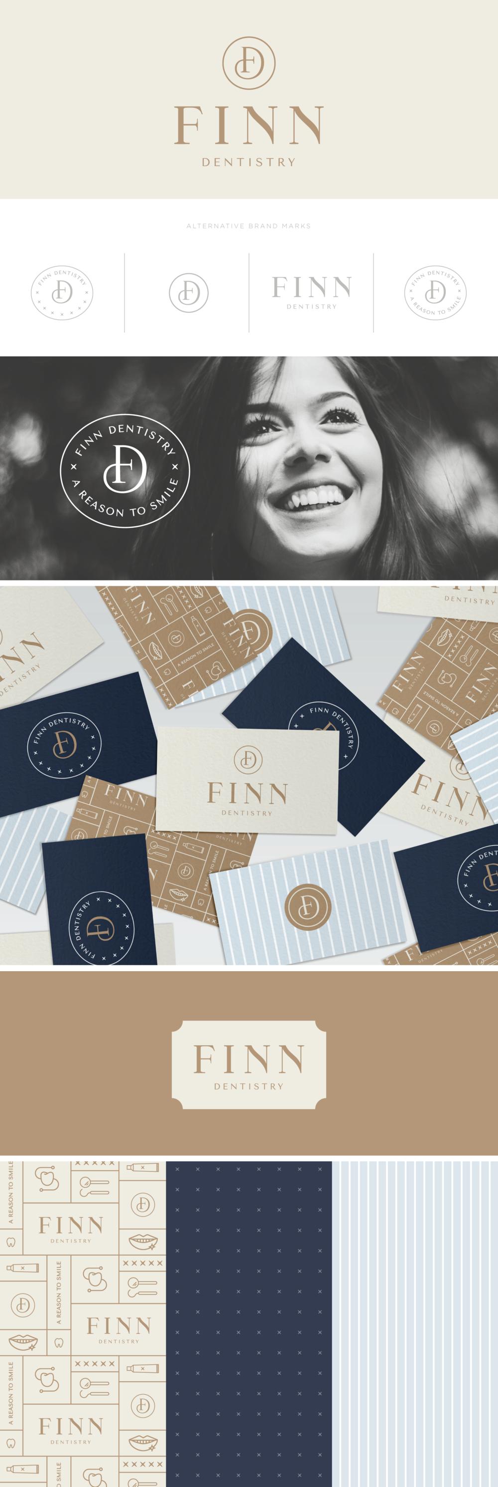 Finn Dentistry Brand Design   Pace Creative Design Studio
