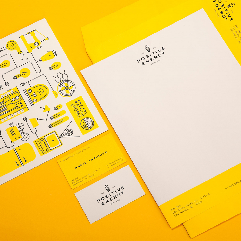 Positive Energy brand design by Fuzzco