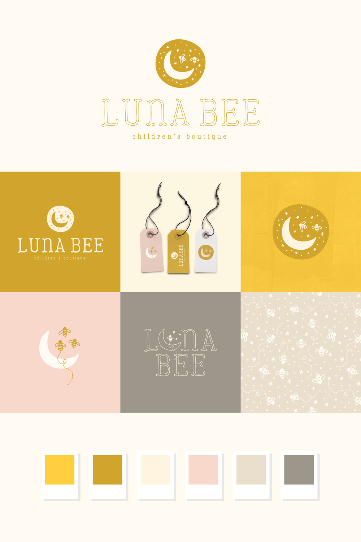 Luna Bee Children's Boutique brand design | Pace Creative Design Studio