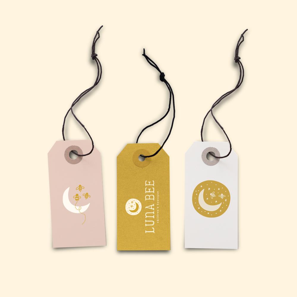 Luna Bee Children's Boutique brand design by Pace Creative Design Studio