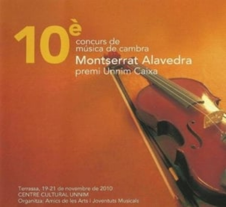 X CHAMBER MUSIC COMPETITION MONSERRAT ALAVEDRA  Art Sound Quartet 2010  Works by Hallfter, Tanada, Debussy