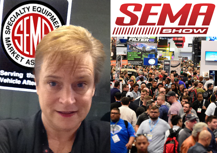 Kathy presented at the massive 2016 and 2017 SEMA Shows and reviewed attendees' LinkedIn profiles at the SEMA Show Career Center all week both years. The SEMA Show is the 7th largest show in the U.S! -- together with the AAPEX Show, it draws 150,000 attendees annually!