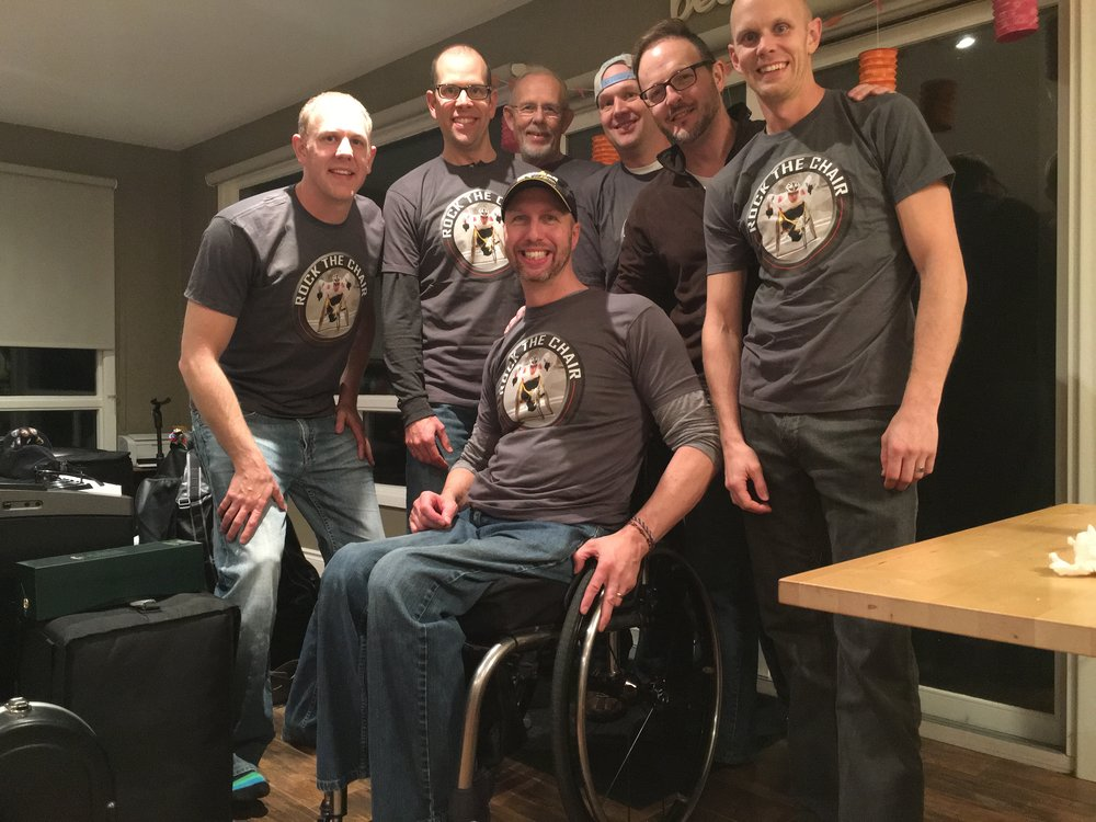 While all the press is great, this is even better...  The last boys' weekend they surprised me with RockTheChair shirts.  I love these guys  :)