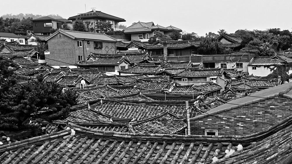 Bukchon's roof