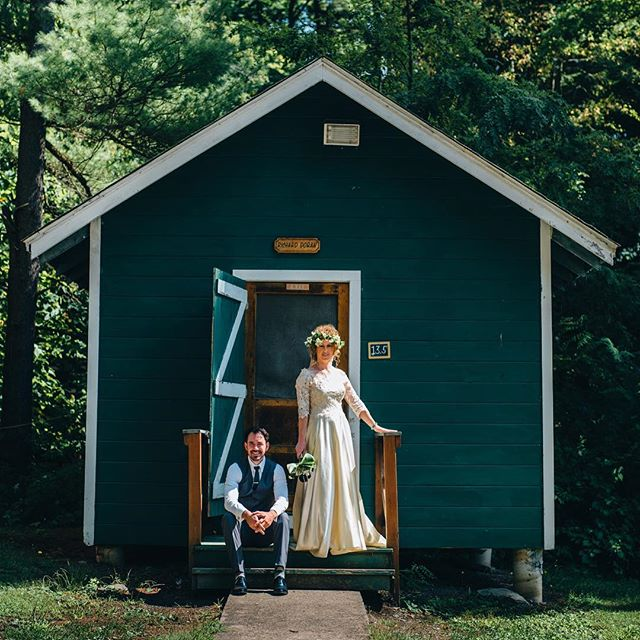 Her parents had gone to this summer camp as children. #summercampwedding #novellaphotography