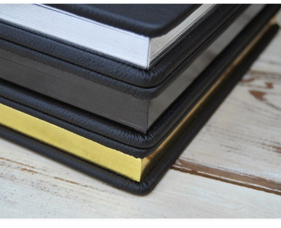 Page Gilding is available in silver, black, and gold.