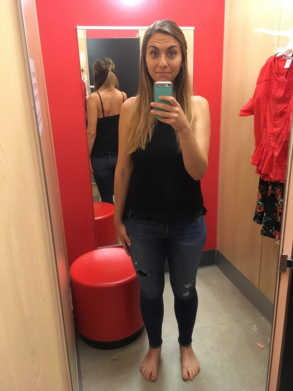 My legs aren't the size I want them to be, but I still bought skinny jeans!