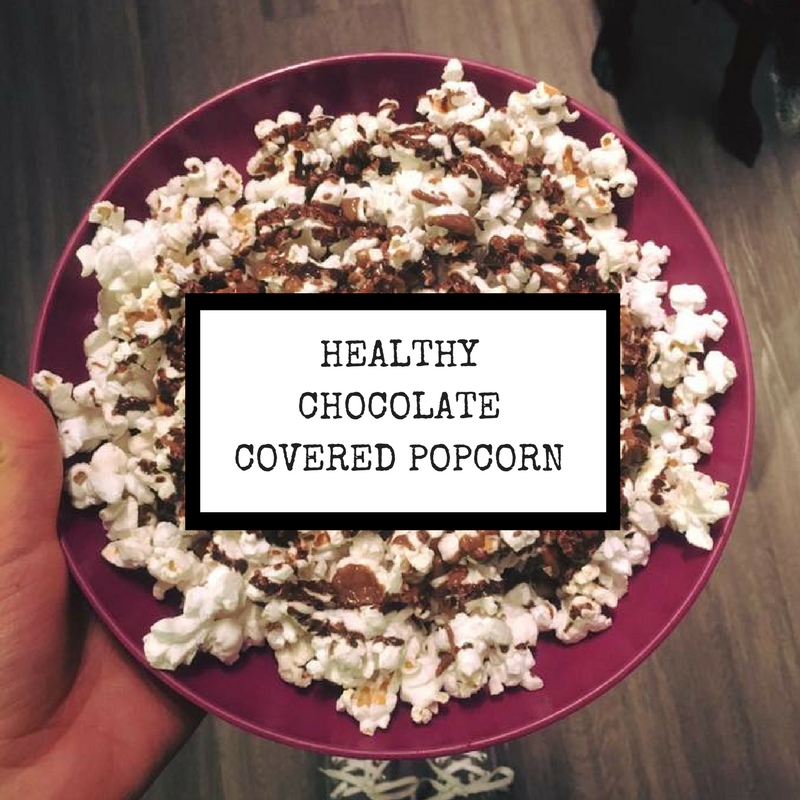 Healthy Chocolate Covered Popcorn