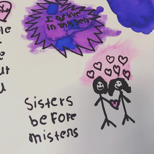 Sisters before Misters #same #goals #wisewords #craftclubboston #afterschool #nonprofit #doodle #sketch
