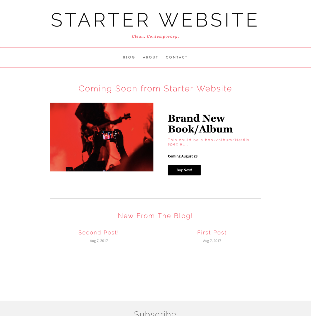 Starter Website - Modern. Mobile-responsive. Made to fit you.