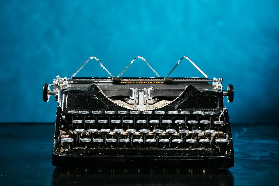 Last Word Designs Portfolio Blue Tulip Publishing Typewriter.jpg