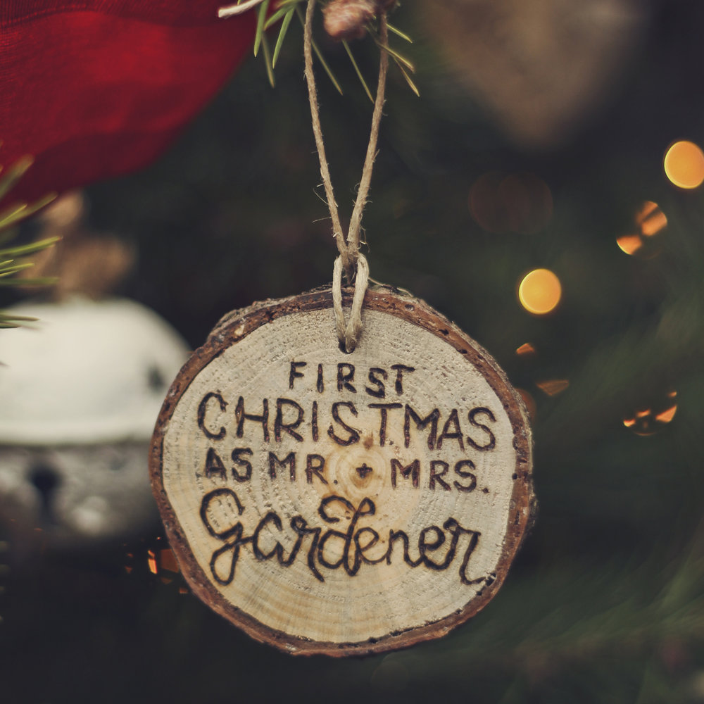 Rustic custom wood burned ornaments - perfect for your tree or as a gift!