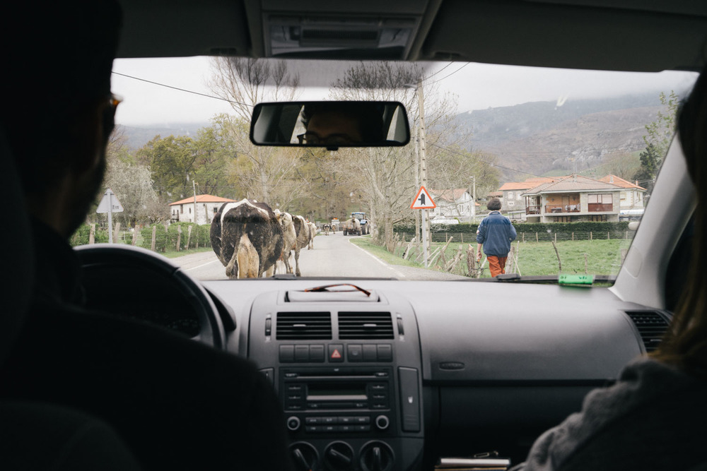 Traffic on our way to Santoña.