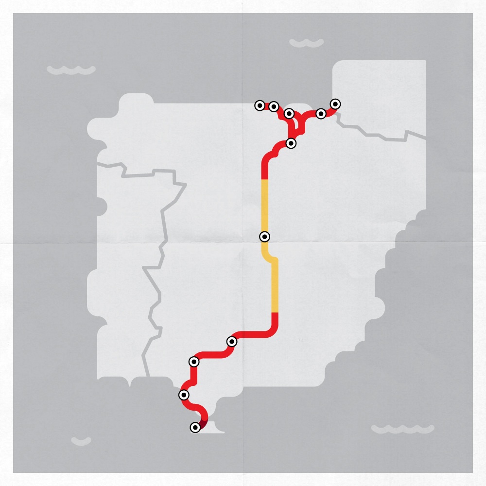 Our route visualized.