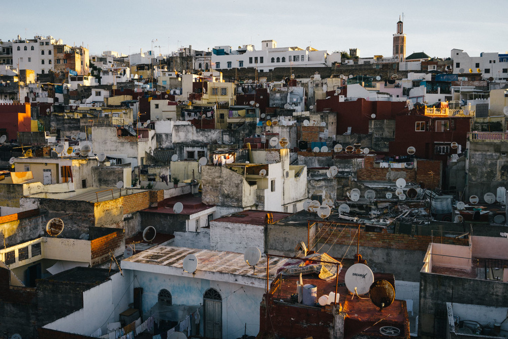 Sunrise over Tangier during the first prayer of the day.