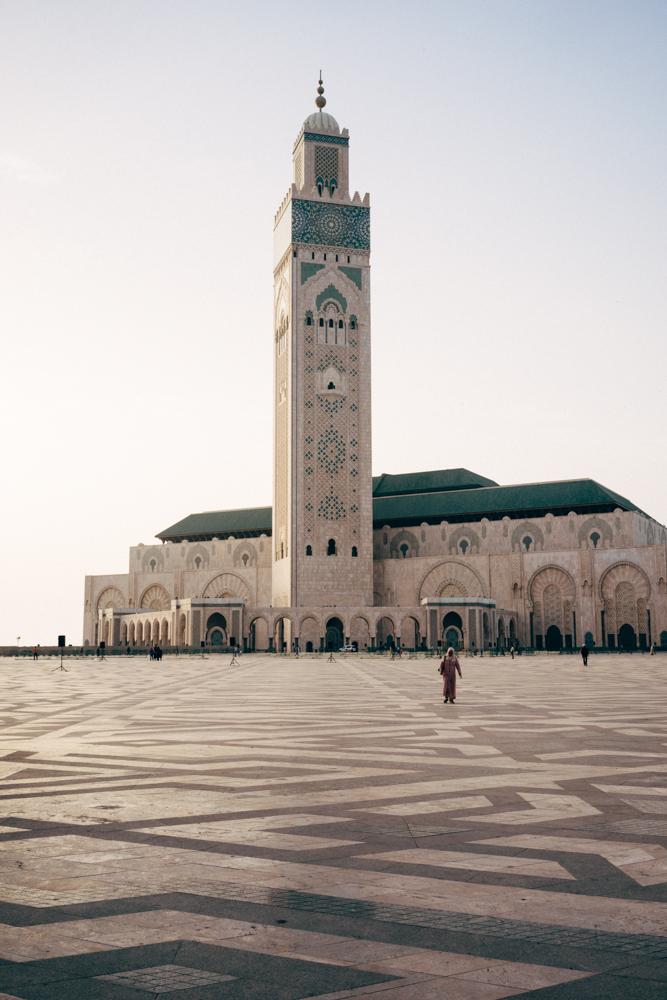 The massive Hassan II Mosque.