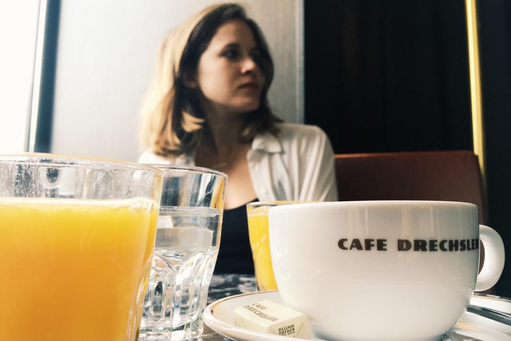 Sunday brunch at Cafe Drechsler.