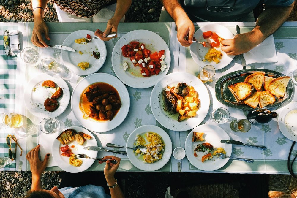 Greek tavern style lunch.