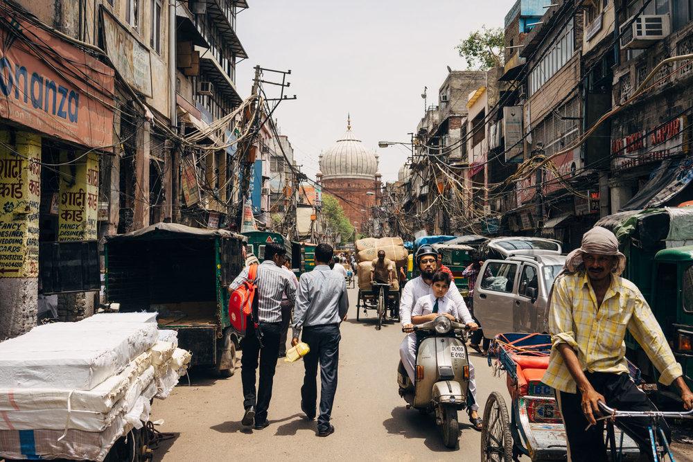 Chandi Chowk market in Old Delhi.