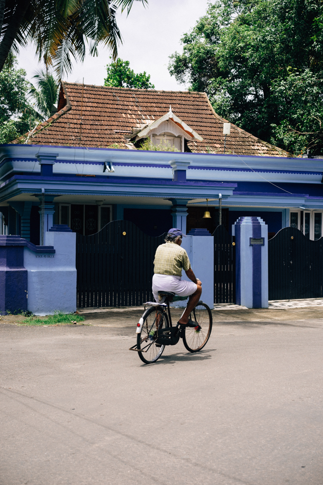 The quiet streets of Fort Kochi were a nice change from the chaos of Northern India.