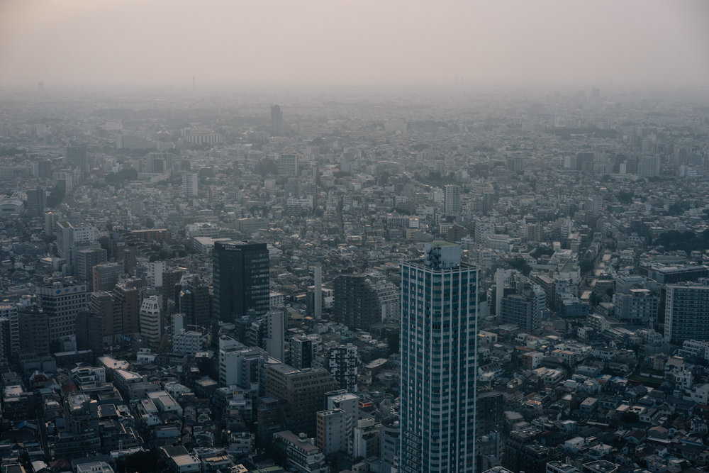 A view of a sprawling Tokyo.