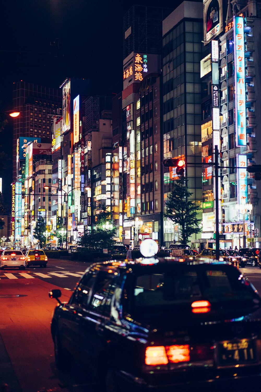 The neon lights of Shinjuku.