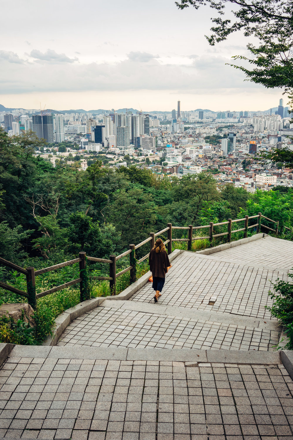 The Seoul skyline from the Namsan Tower.