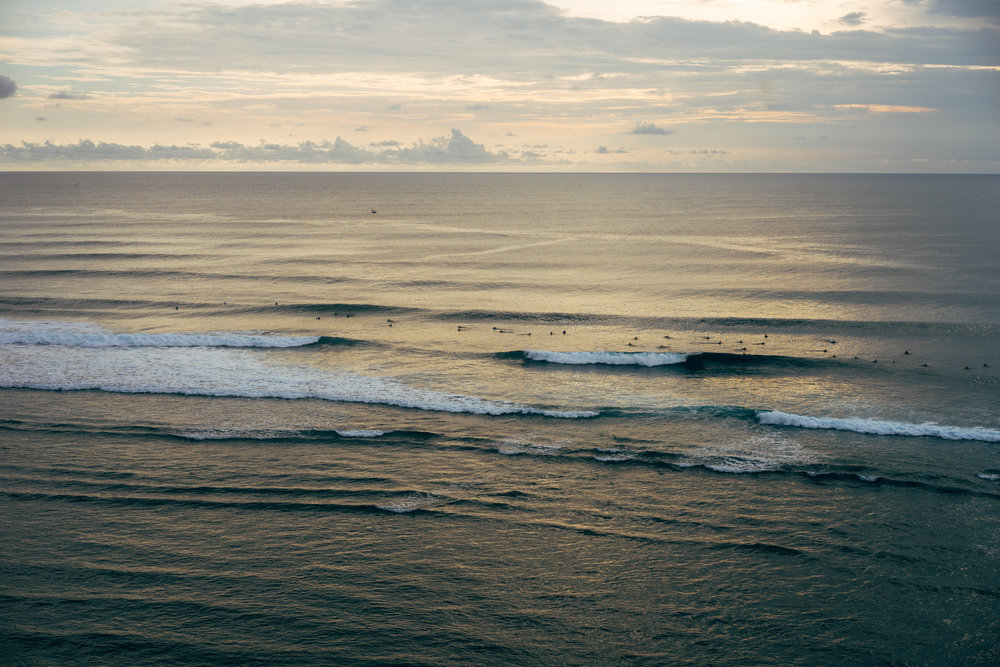 Sunset from the Single Fin overlooking some of the greatest waves.