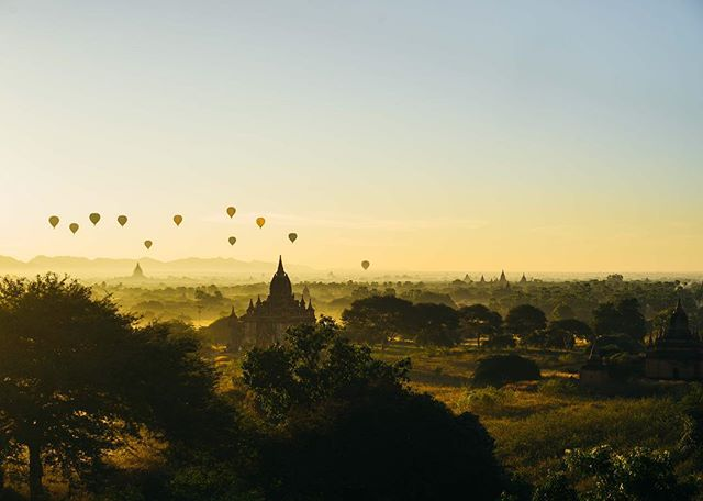 We are super excited to announce that we've set up a shop with some of our favorite prints from the past year. Click the link in profile to snag your personal copies. This particular moment was captured in the ancient city of Bagan, Burma as the sun rose over the tips of the pagodas.