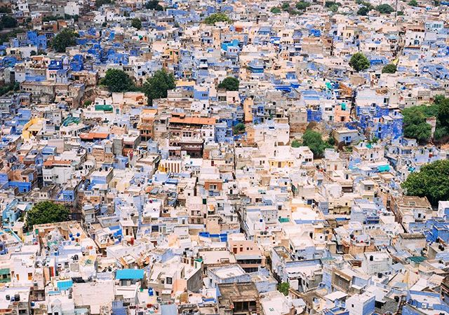 The blue city of Jodhpur, India. Not pictured: Intense head to pinky toe sweat levels from that insanely hot day. #massjourneyarchives