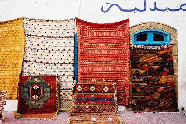 Rug envy in Essaouira, Morocco. #massjourneyarchives