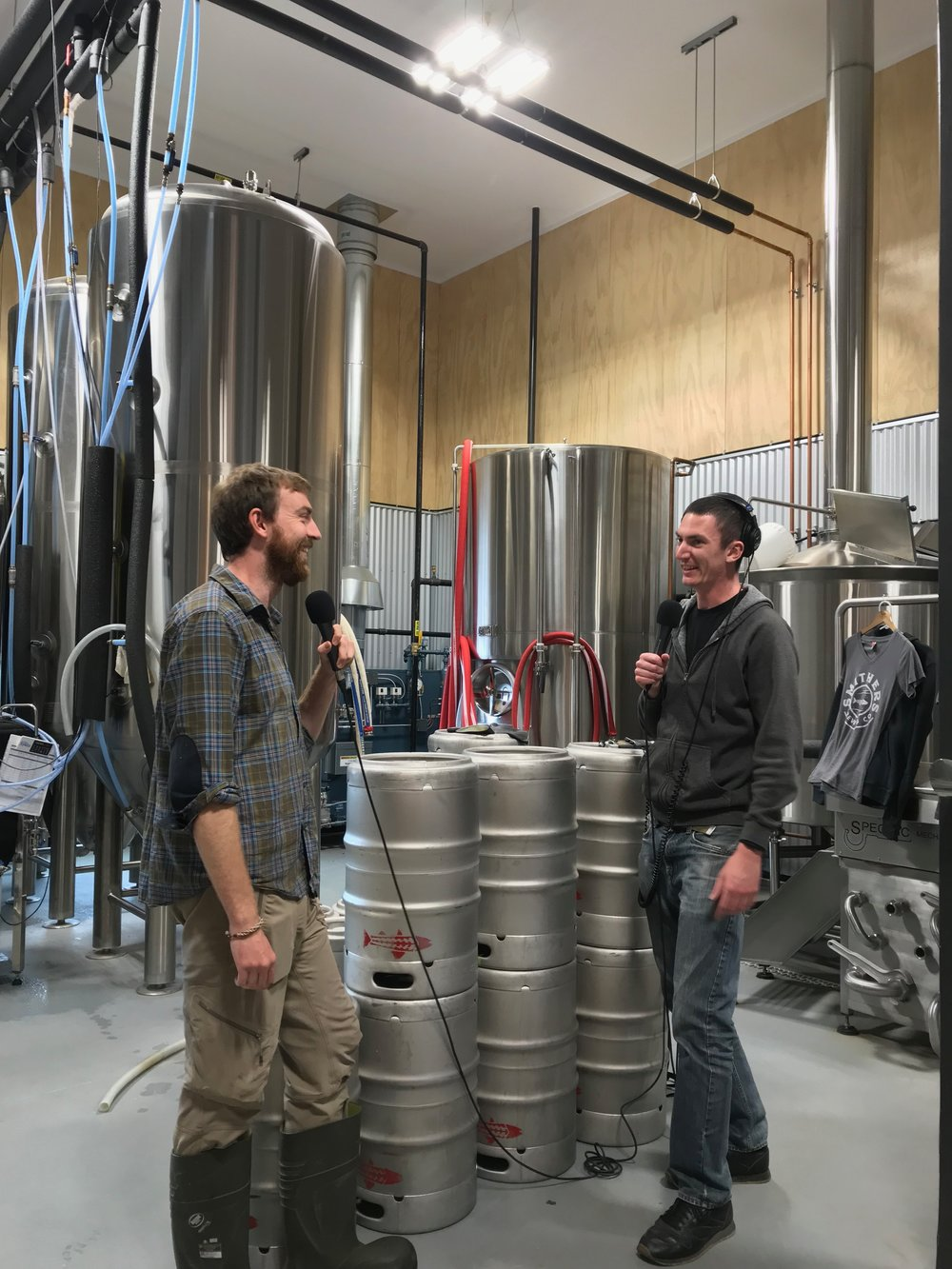 We recorded our chat in the brewhouse.