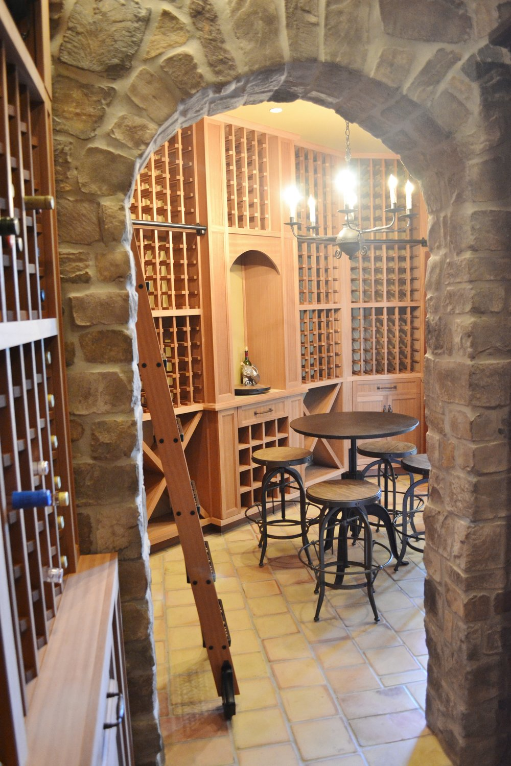 wine cellar racking orange county dana point