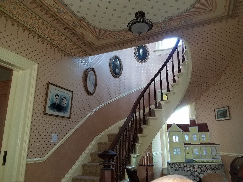 Now the walls and ceilings are as grand as the curved staircase.
