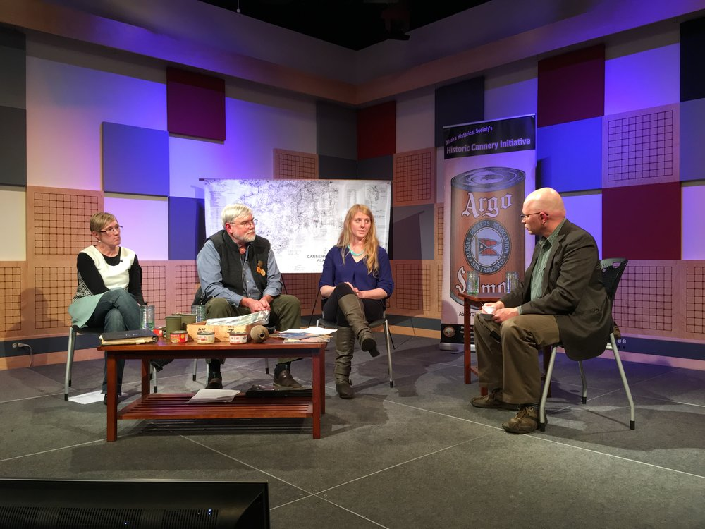 From left, Katie Ringsmuth, Bob King, Anjuli Grantham and Matt Miller during the taping of Forum@360.