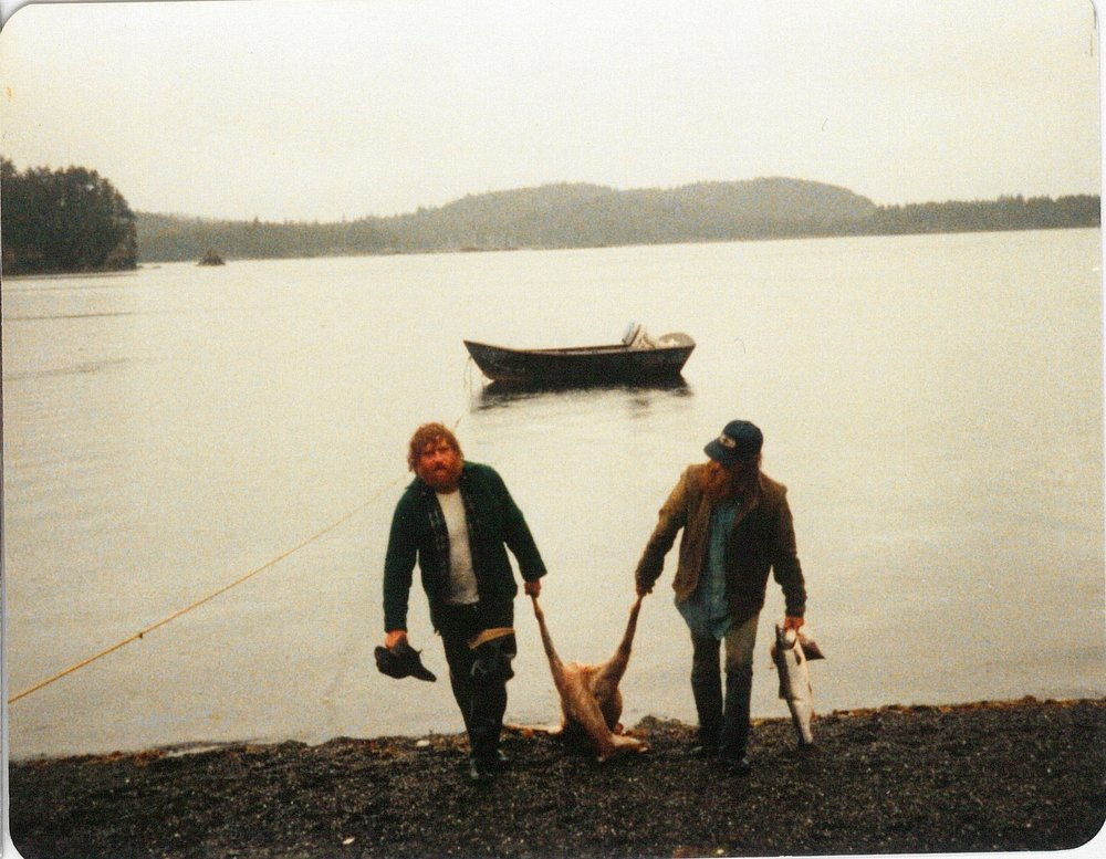 My dad and stepdad at Blue Fox off Afognak Island.